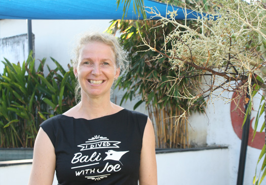 Mirjam eigenaar Joe's Gone Diving Bali