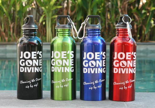 Joe's Gone Diving is very environmentally friendly