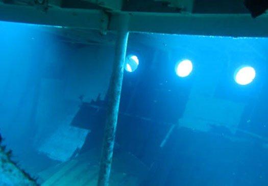 Dive wreck at Tulamben Bali