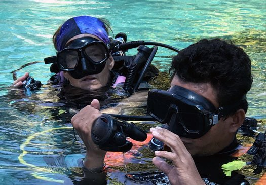 PADI Adaptive support diver course in Bali