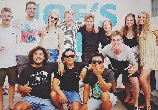 Blije PADI studenten Bali
